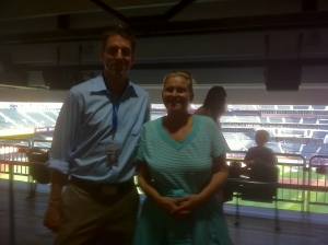 Kevin Burkhardt with Cindy of Shabtai Gourmet