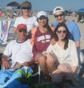 Family Team at the Beach
