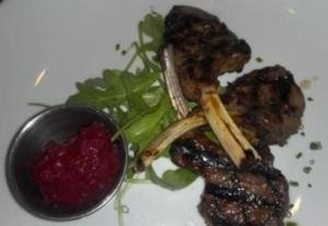 Grilled Lamb Chops with Seasonal Fruit Chutney