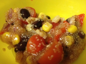 Black Bean and Amaranth Salad_close up