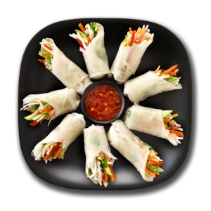 Vegetable Spring Rolls - One of the gluten-free recipes in our Cook for Your Love campaign