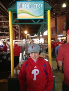 Grandson at Phillies Game
